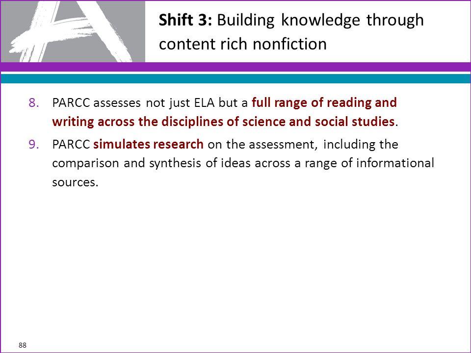 Shift 3: Building knowledge through content rich nonfiction