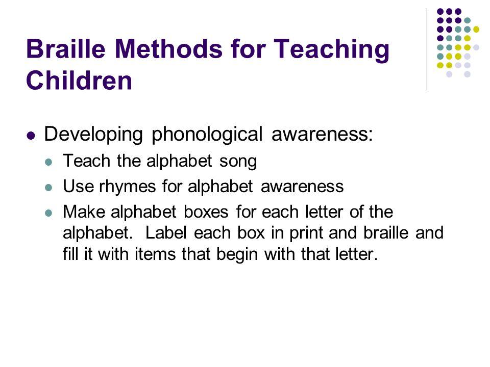 Braille Methods for Teaching Children