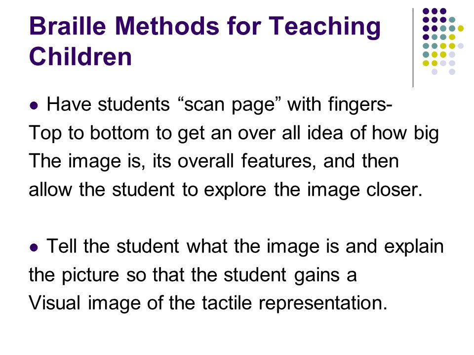 Braille Methods for Teaching Children
