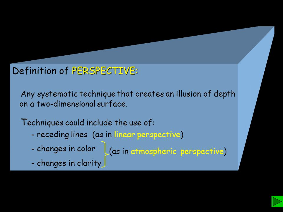 Definition of PERSPECTIVE: