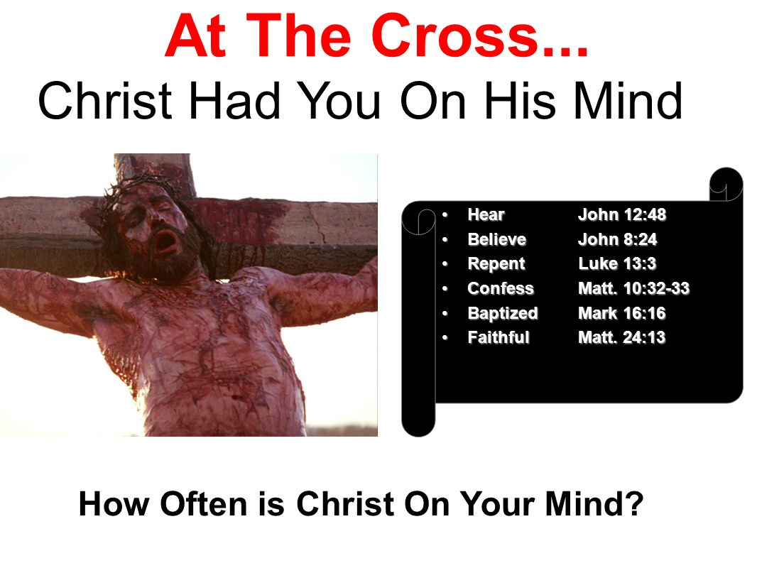 How Often is Christ On Your Mind