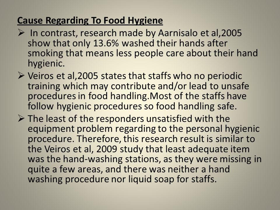Cause Regarding To Food Hygiene