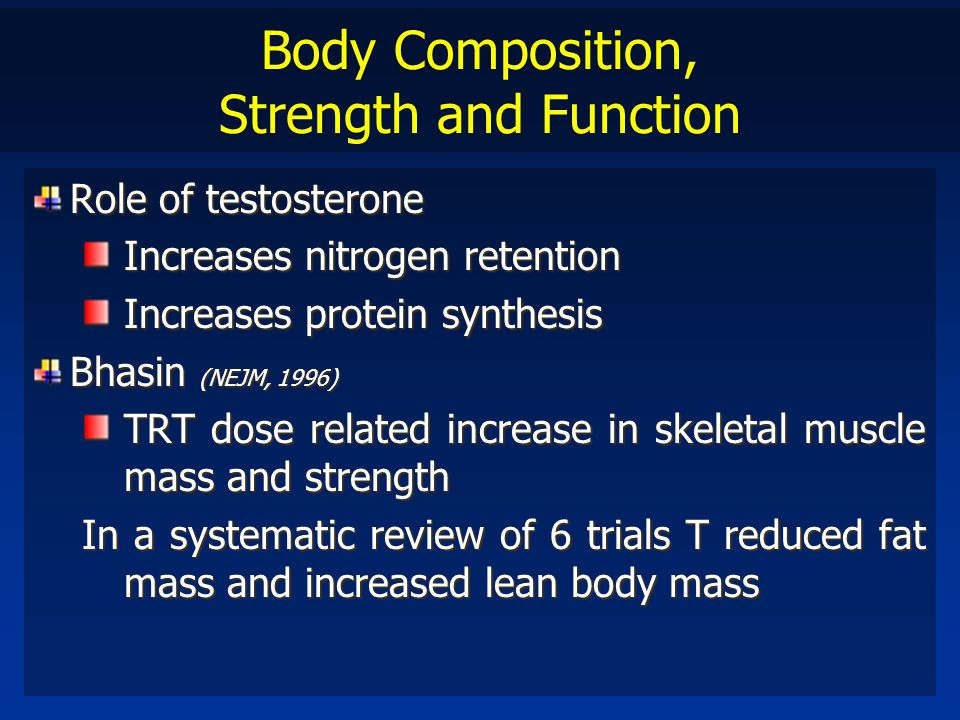 Body Composition, Strength and Function
