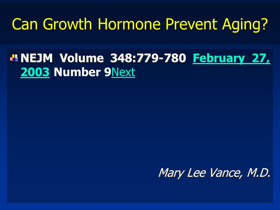 Can Growth Hormone Prevent Aging
