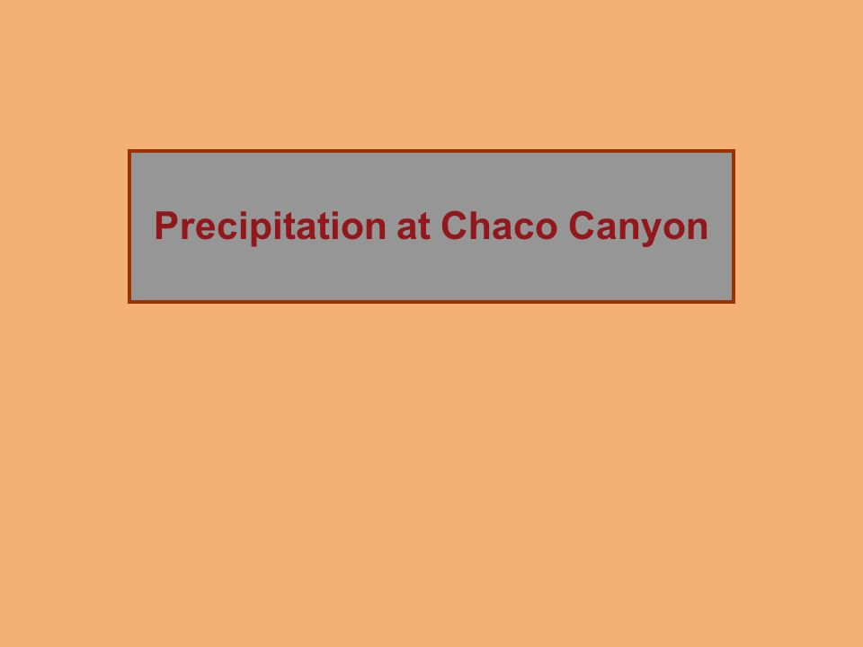 Precipitation at Chaco Canyon