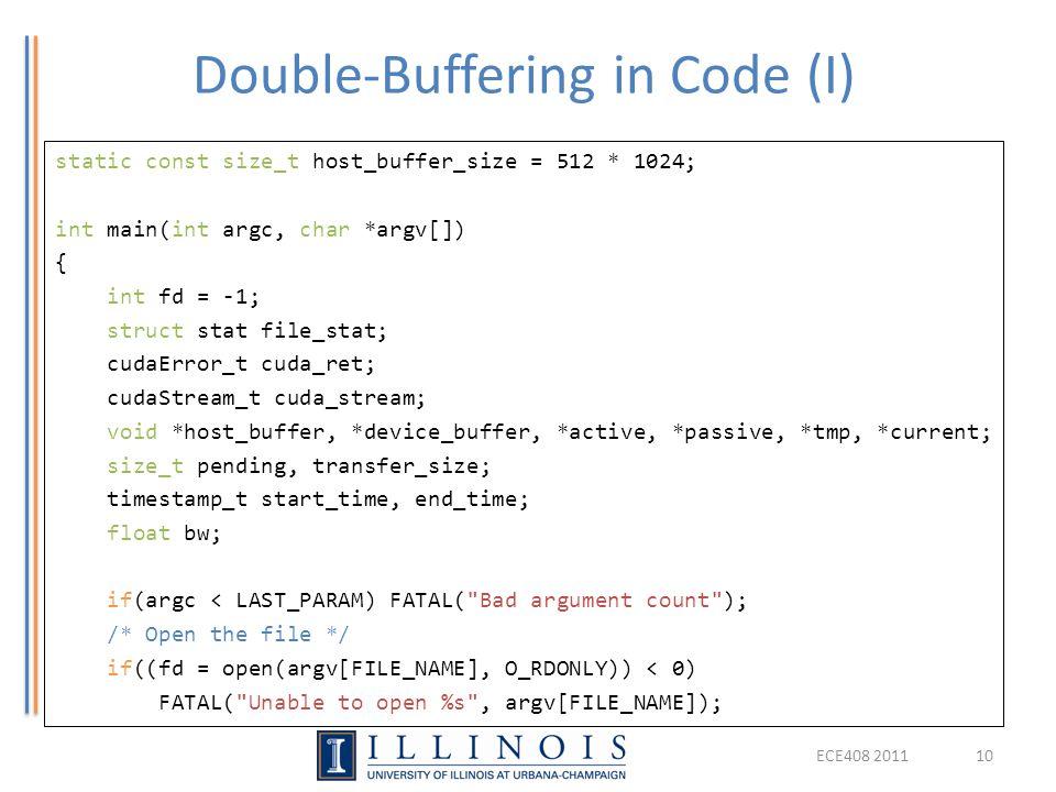 Double-Buffering in Code (I)