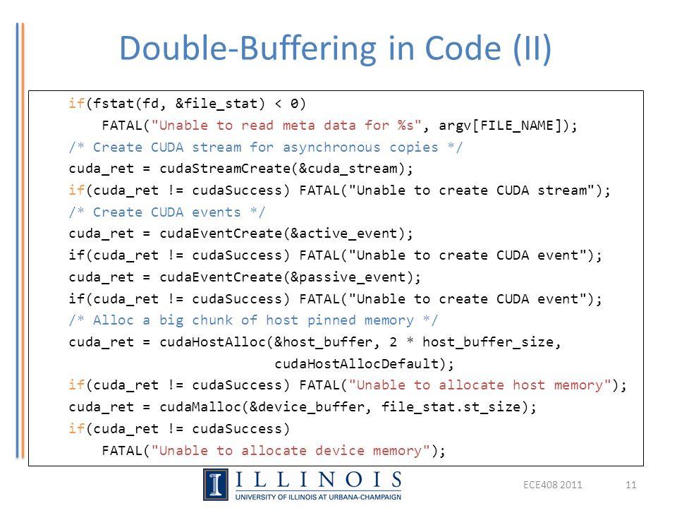 Double-Buffering in Code (II)