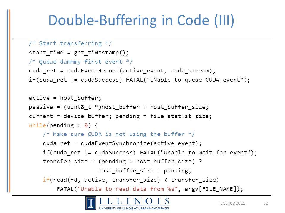 Double-Buffering in Code (III)