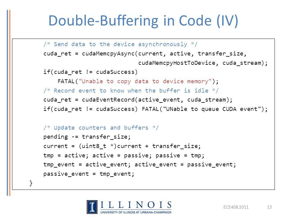 Double-Buffering in Code (IV)