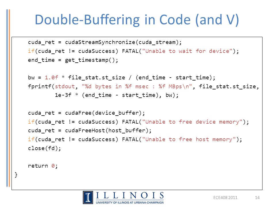 Double-Buffering in Code (and V)