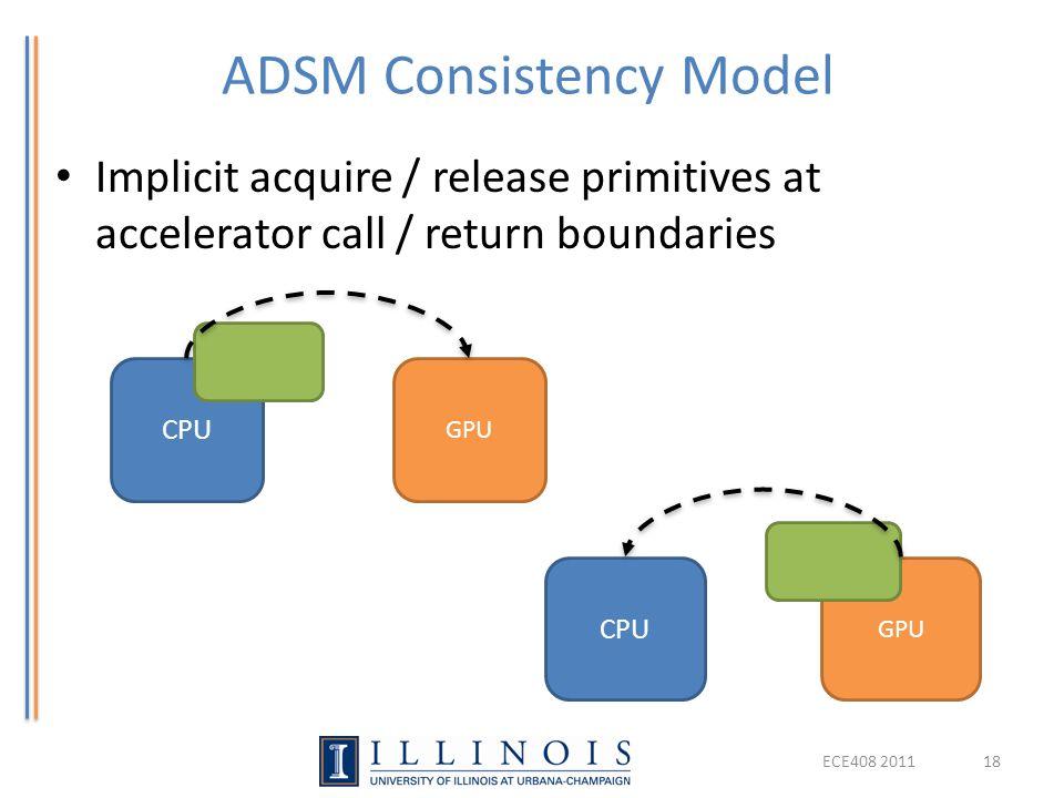 ADSM Consistency Model