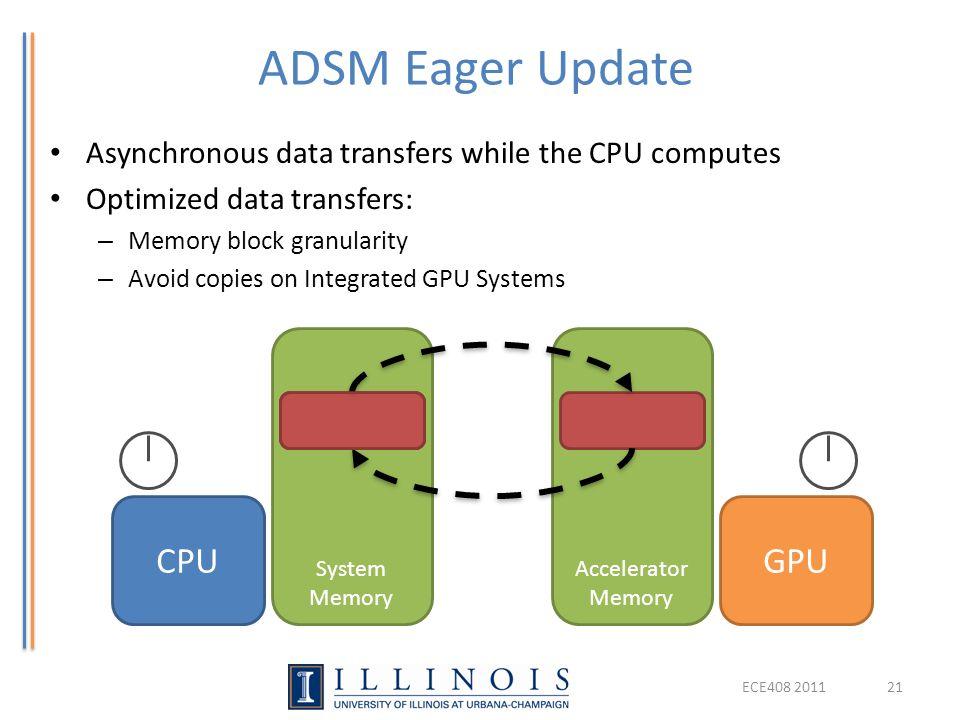 ADSM Eager Update CPU GPU