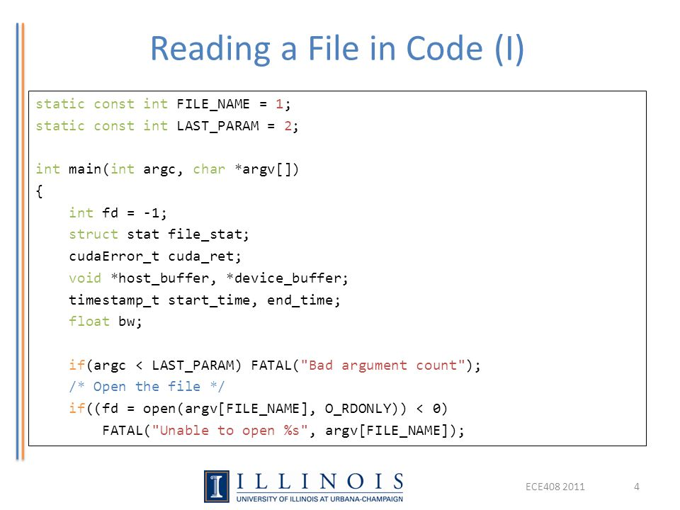 Reading a File in Code (I)