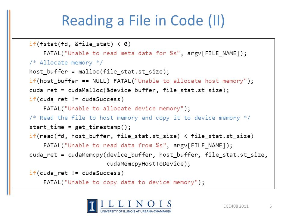 Reading a File in Code (II)