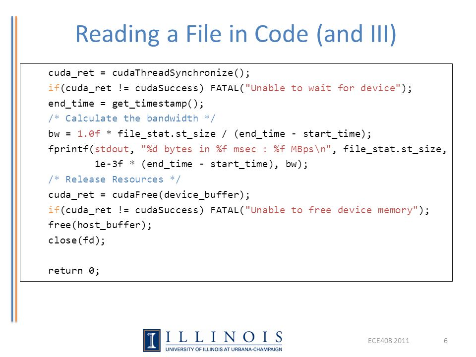 Reading a File in Code (and III)