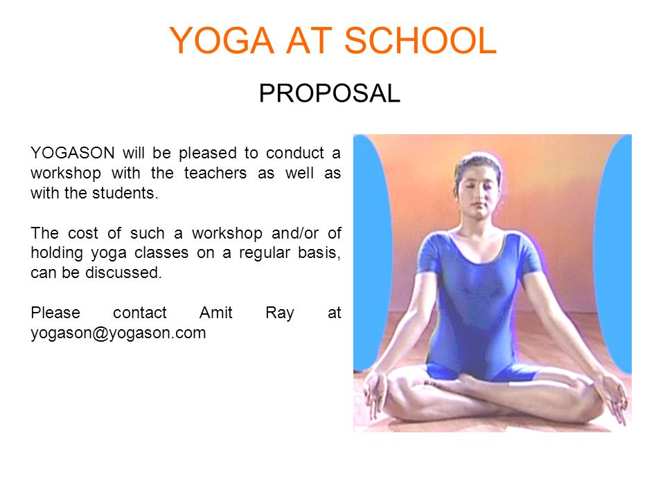 YOGA AT SCHOOL PROPOSAL