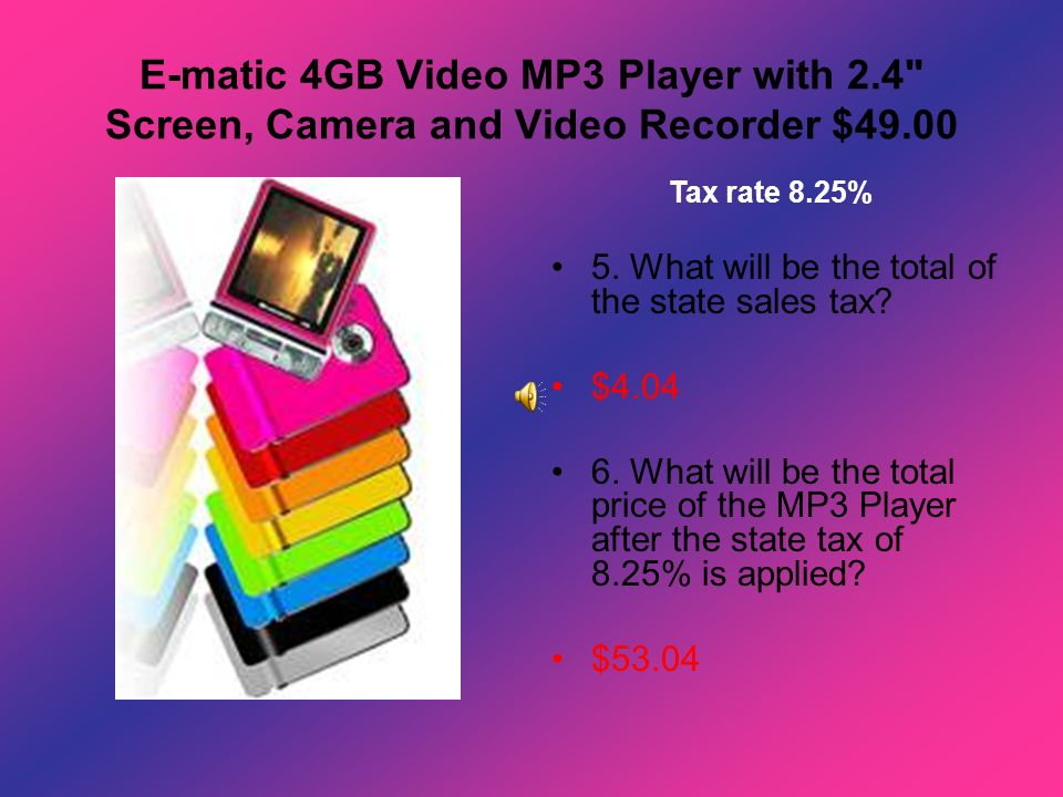 E-matic 4GB Video MP3 Player with 2
