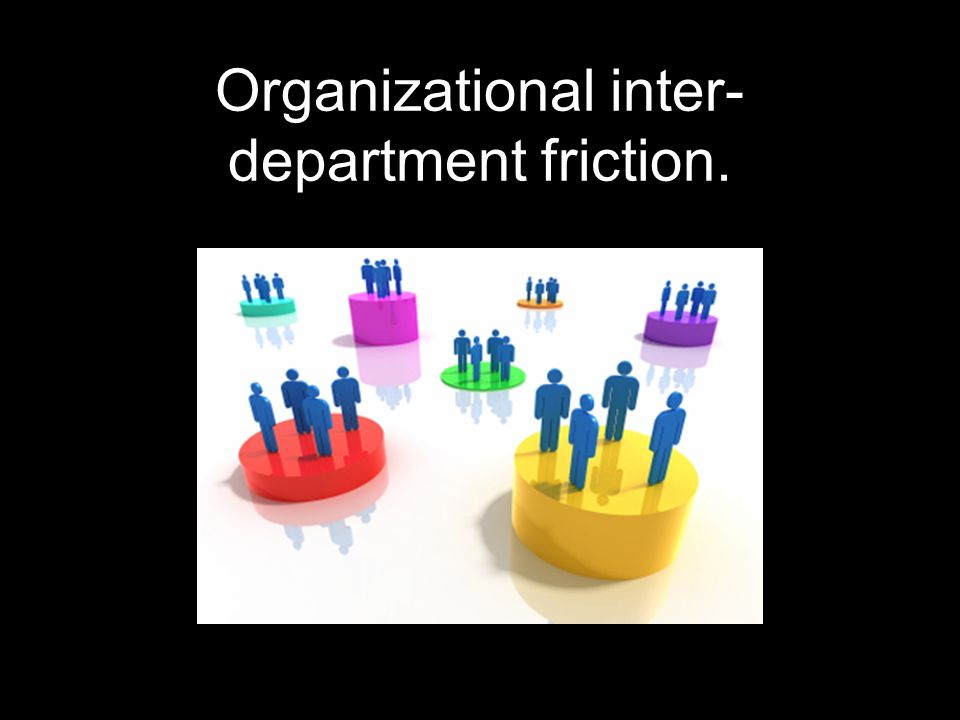 Organizational inter-department friction.