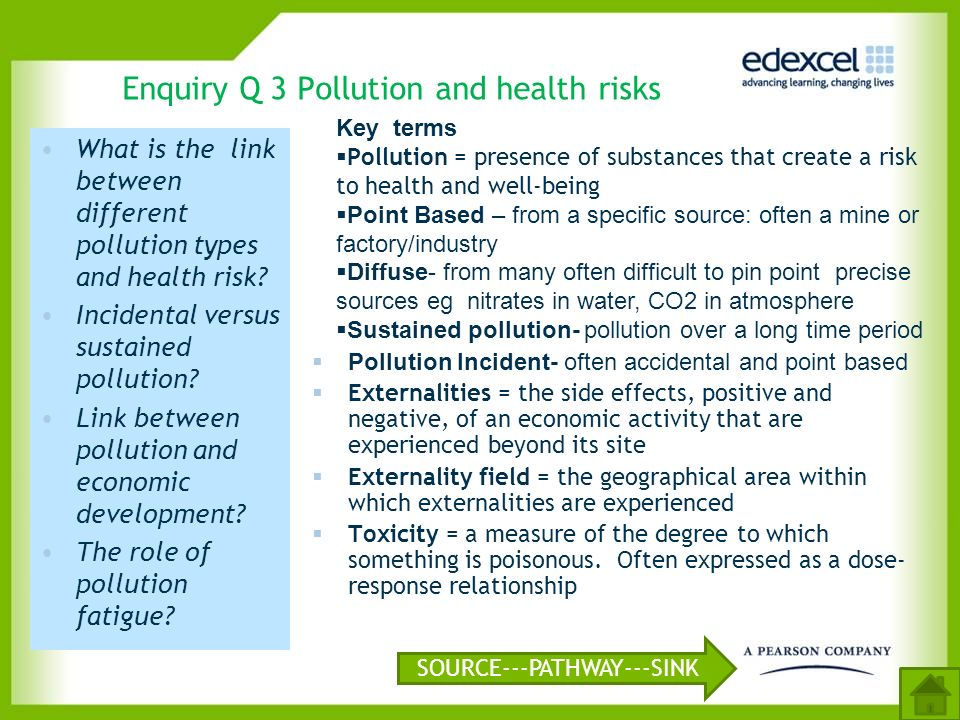 Enquiry Q 3 Pollution and health risks