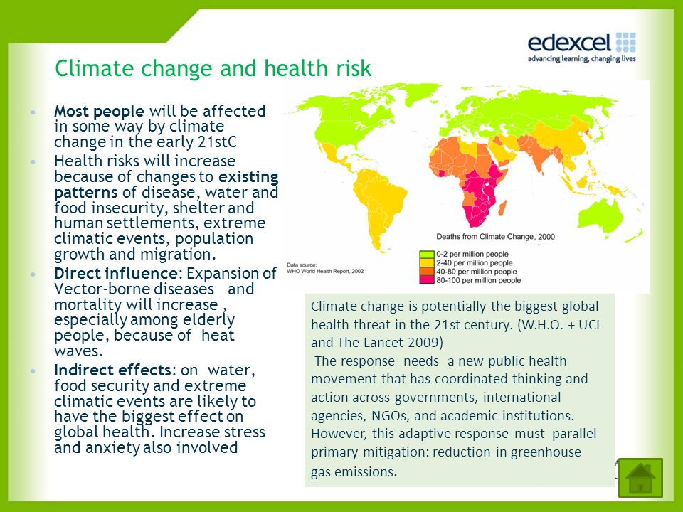 Climate change and health risk