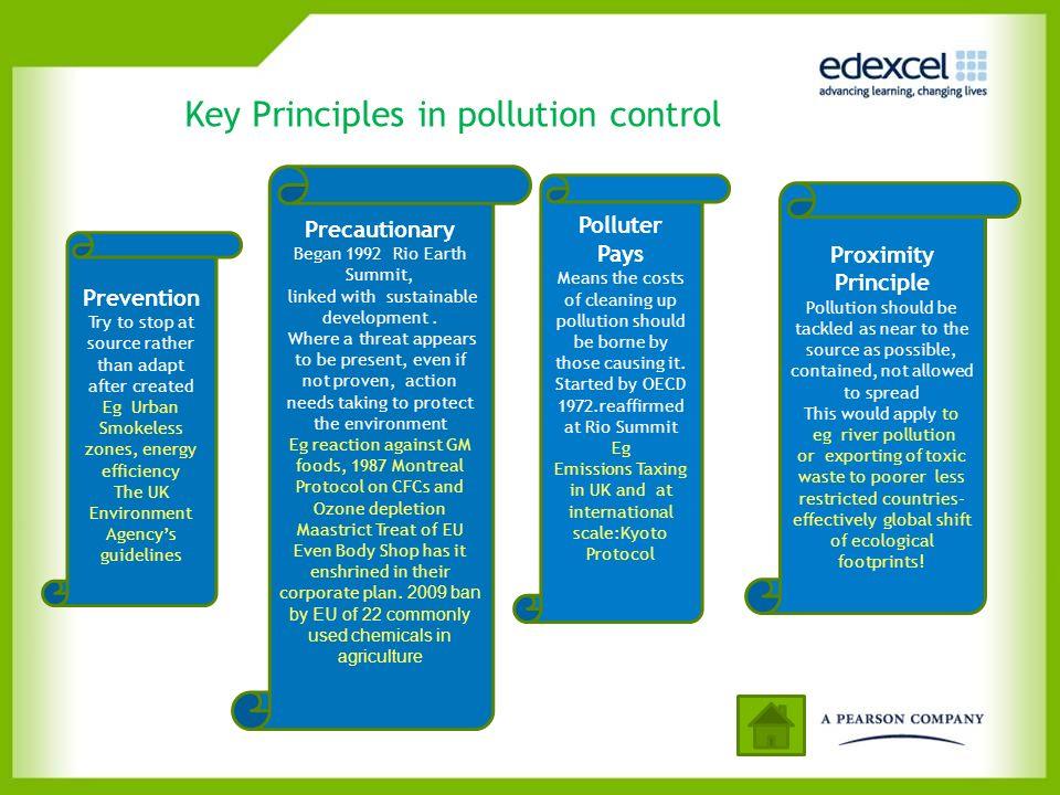 Key Principles in pollution control