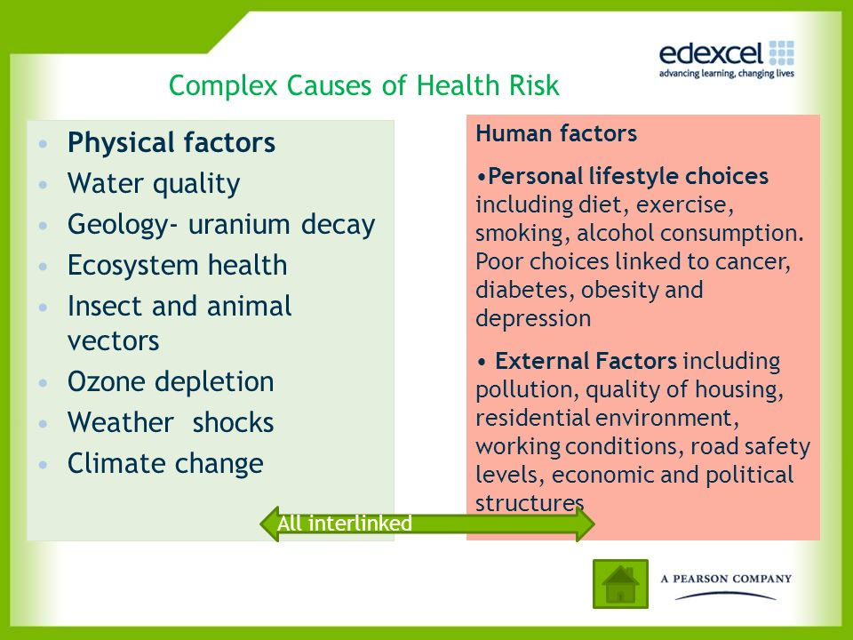 Complex Causes of Health Risk