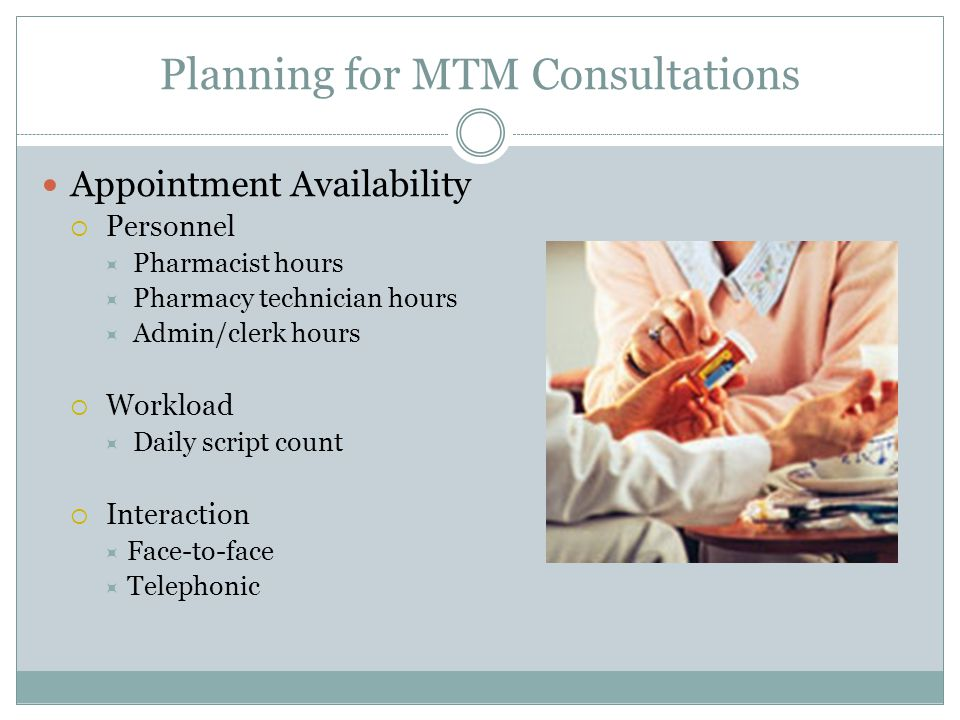 Planning for MTM Consultations