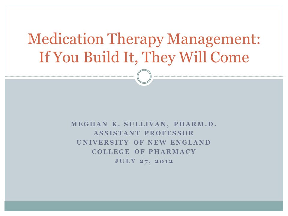 Medication Therapy Management: If You Build It, They Will Come