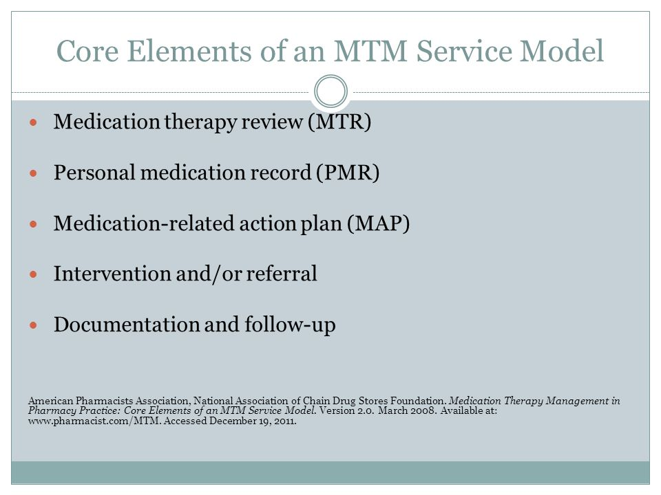Core Elements of an MTM Service Model