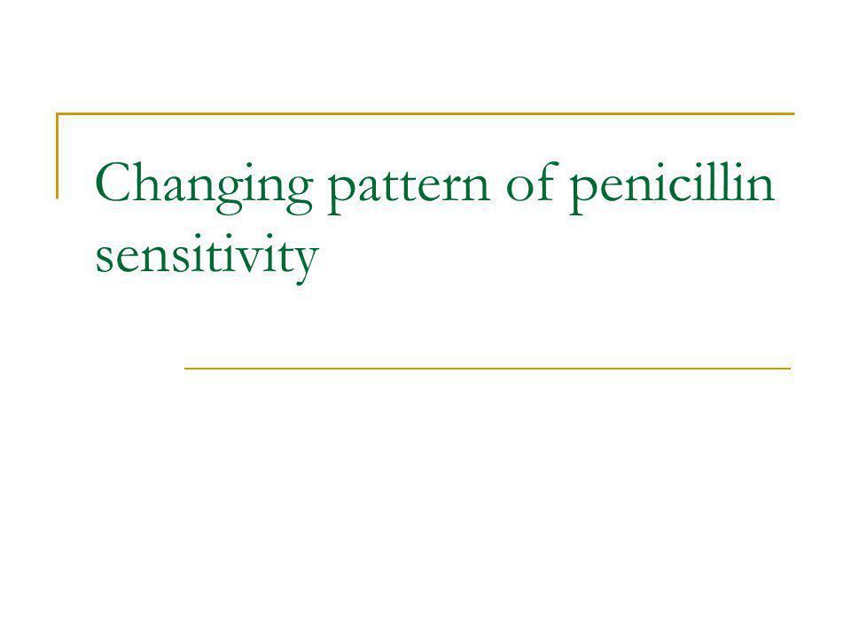 Changing pattern of penicillin sensitivity