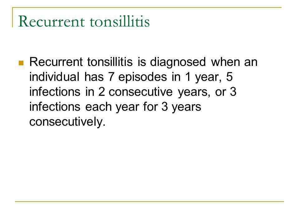 Recurrent tonsillitis