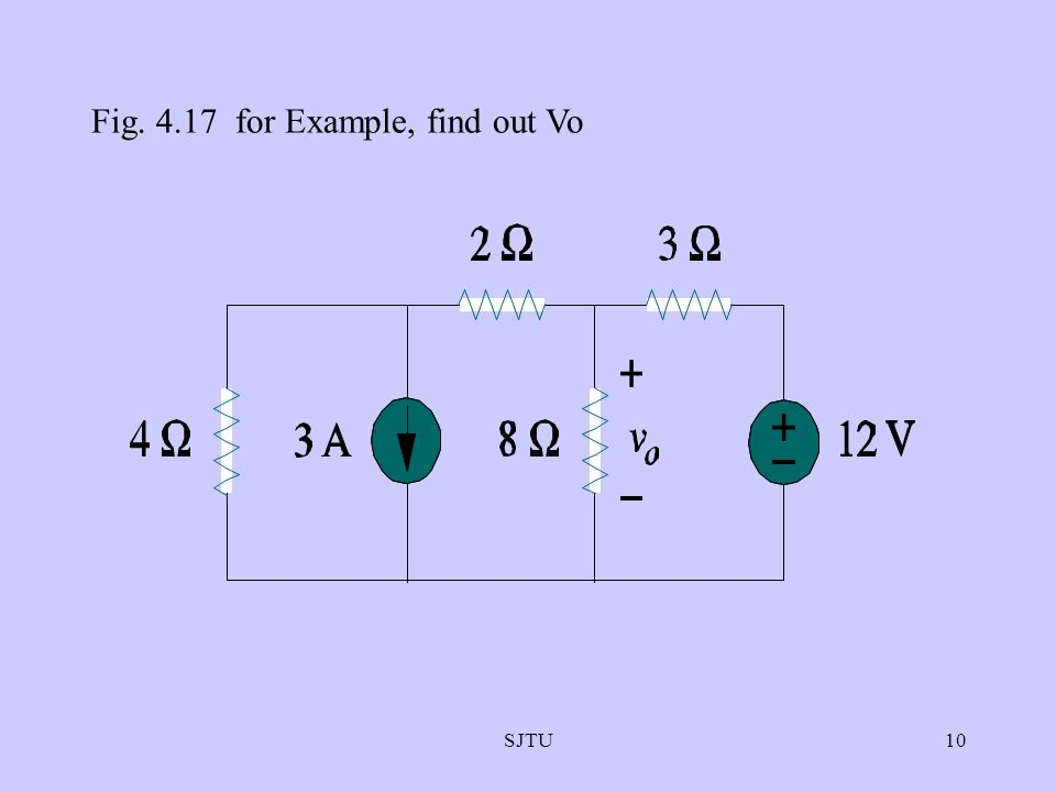 Fig. 4.17 for Example, find out Vo