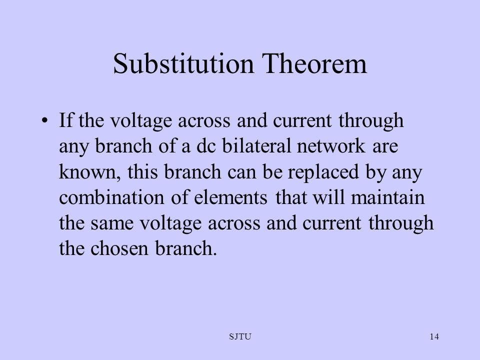 Substitution Theorem