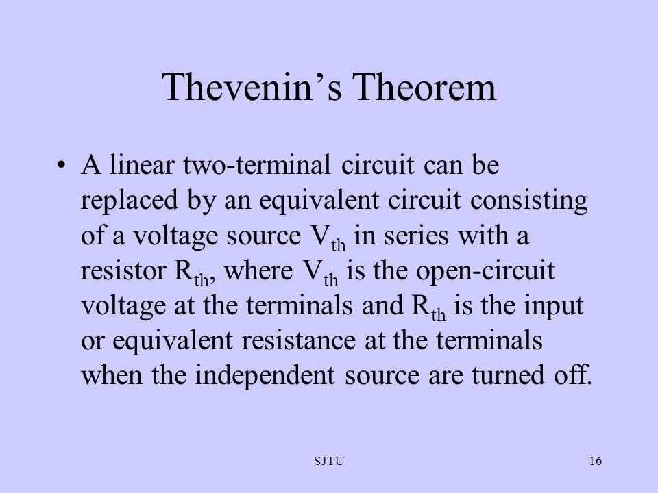 Thevenin's Theorem