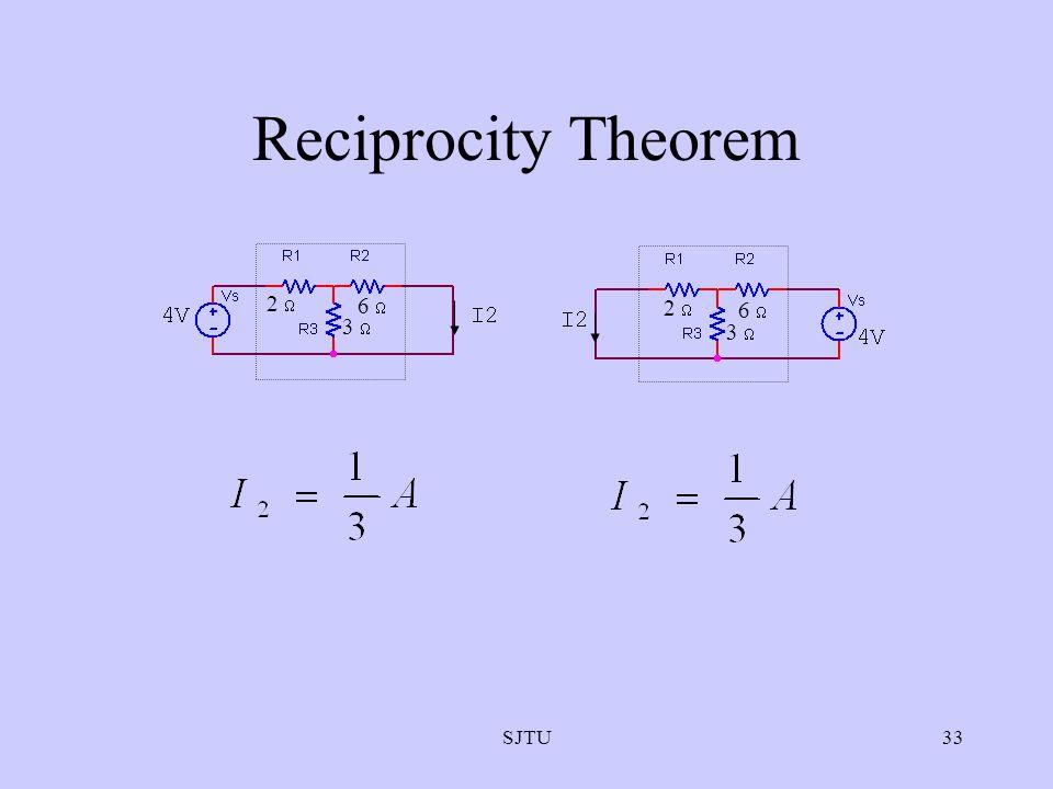 Reciprocity Theorem 2  3  6  3  6  2  SJTU