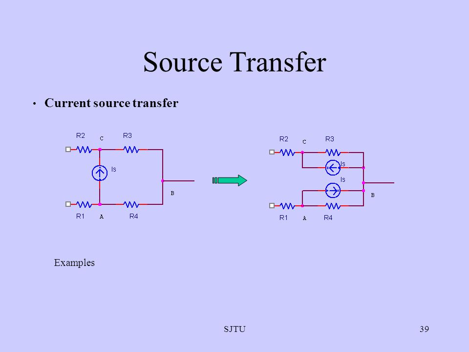 Source Transfer Current source transfer Examples SJTU