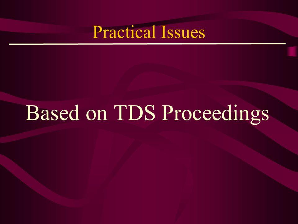 Based on TDS Proceedings