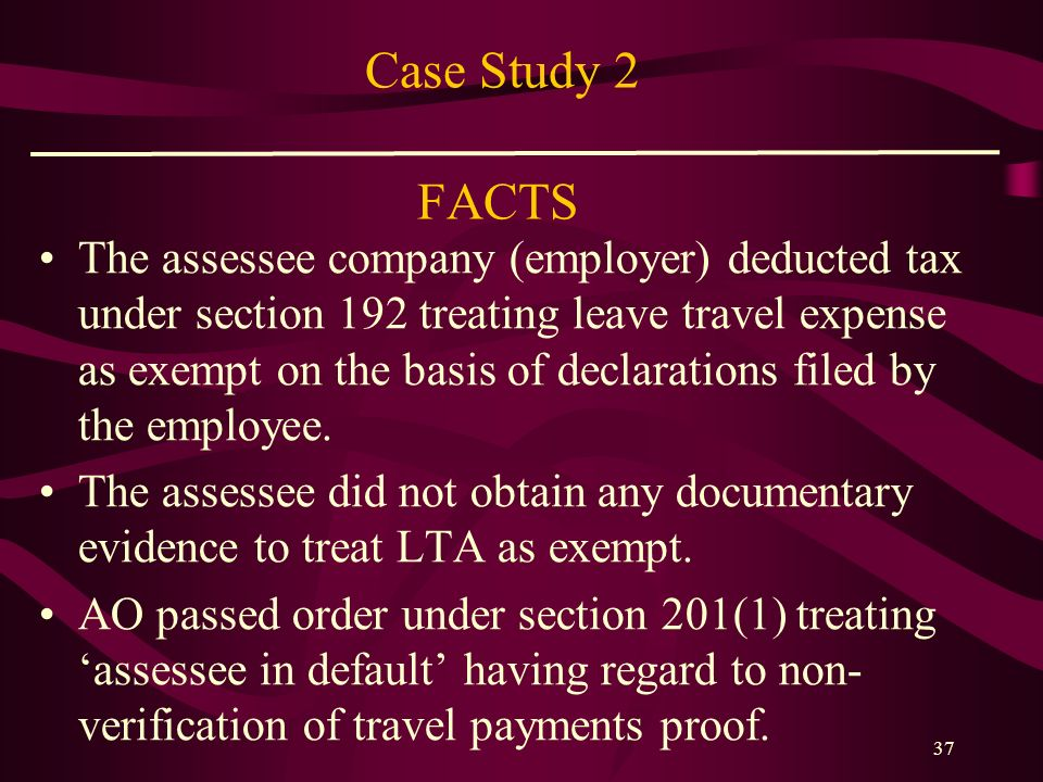 Case Study 2 FACTS
