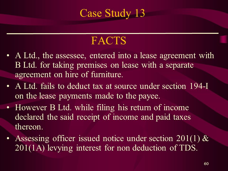 Case Study 13 FACTS