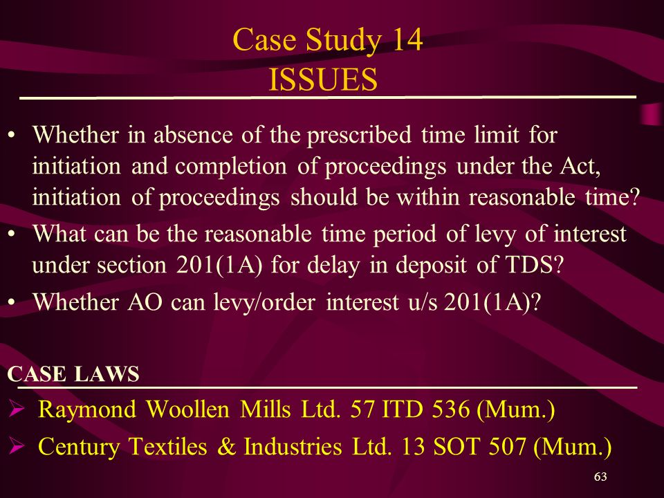 Case Study 14 ISSUES
