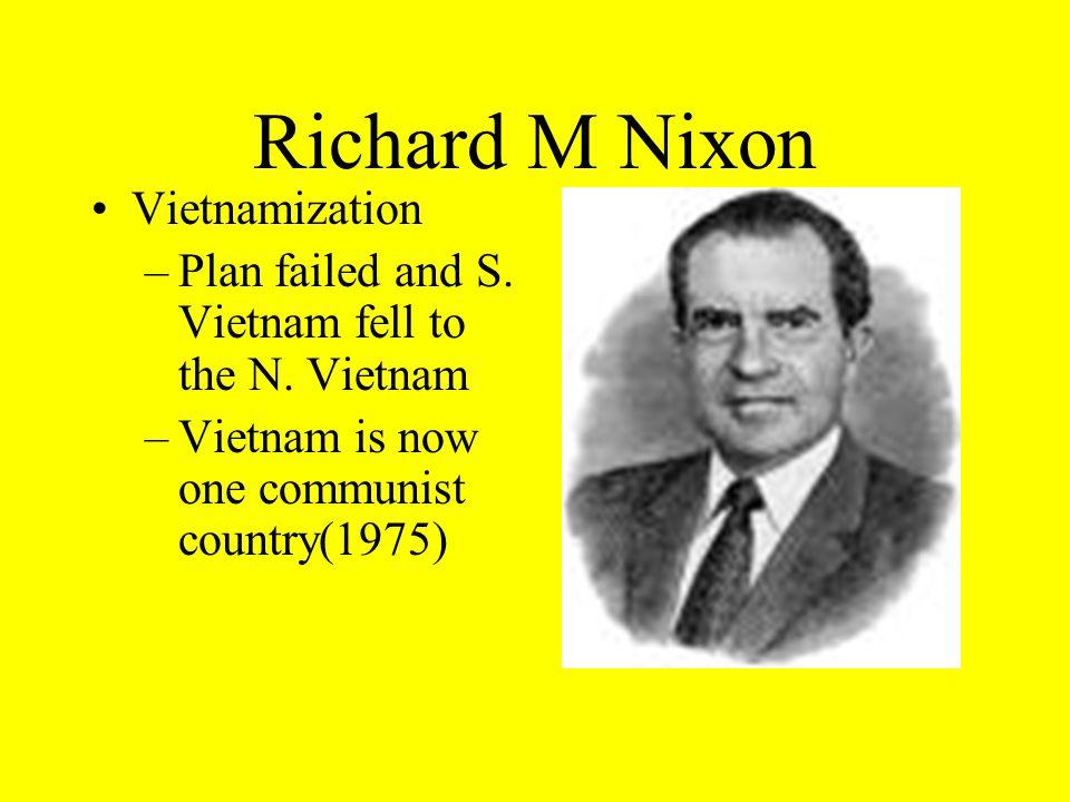 Richard M Nixon Vietnamization