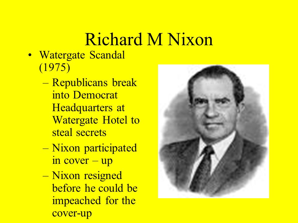 Richard M Nixon Watergate Scandal (1975)