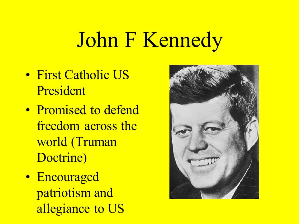 John F Kennedy First Catholic US President