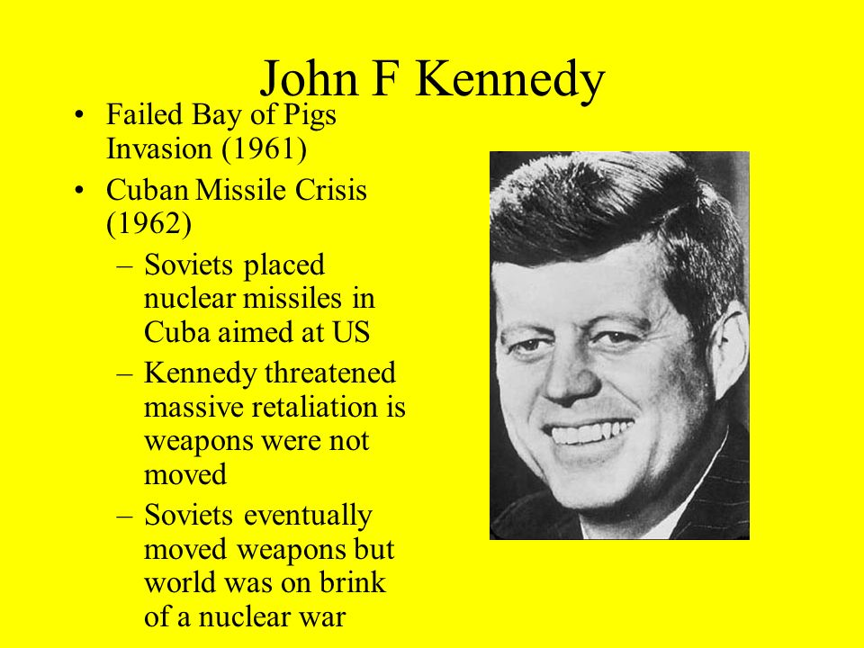 John F Kennedy Failed Bay of Pigs Invasion (1961)