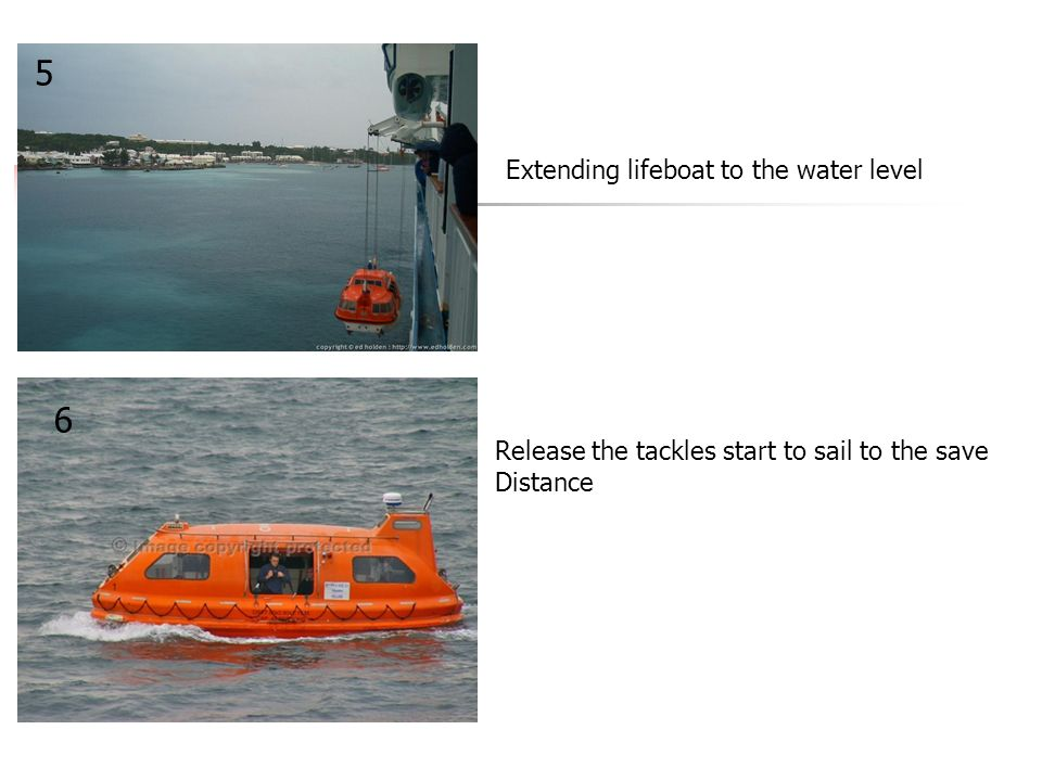 5 6 Extending lifeboat to the water level