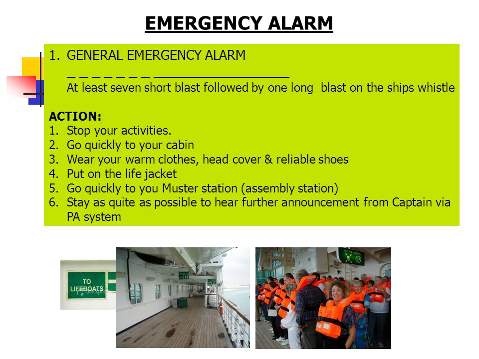 EMERGENCY ALARM GENERAL EMERGENCY ALARM _ _ _ _ _ _ _ ________________