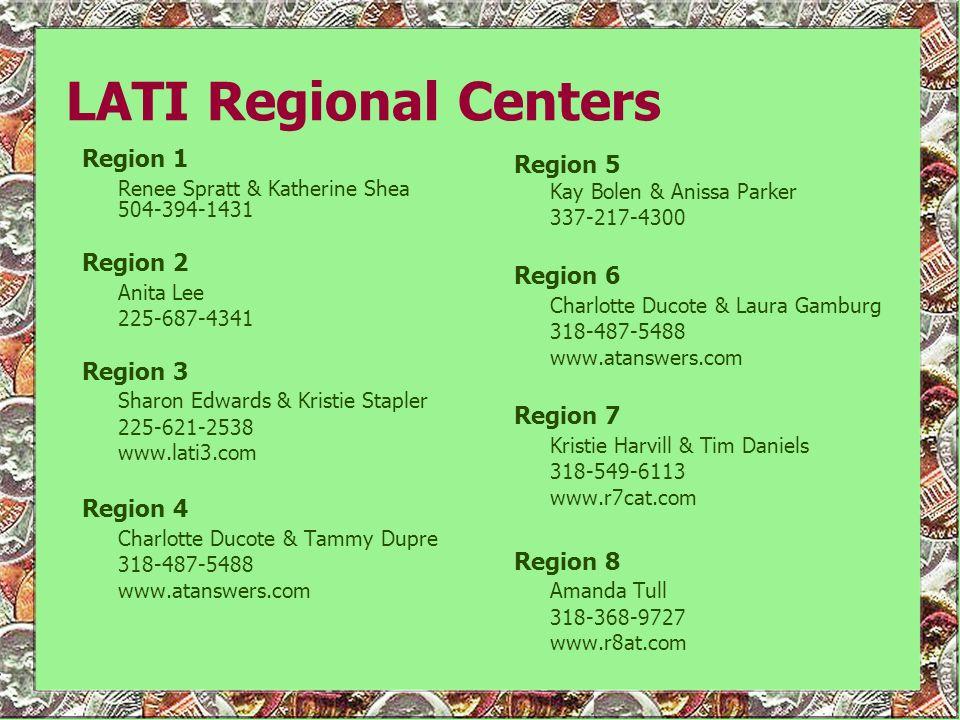 LATI Regional Centers Region 1