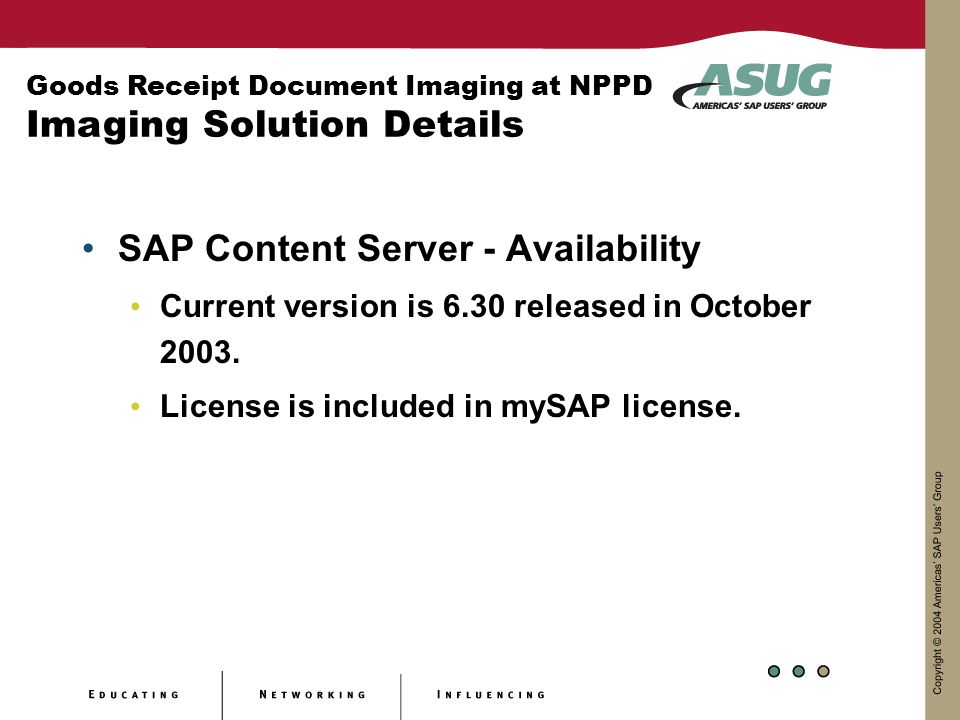 SAP Content Server - Availability
