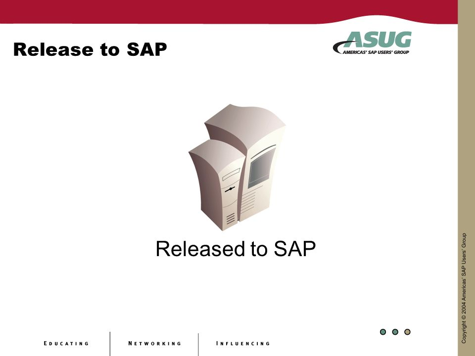 Release to SAP Released to SAP