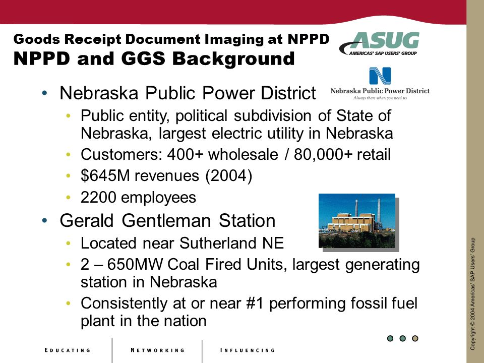 Goods Receipt Document Imaging at NPPD NPPD and GGS Background